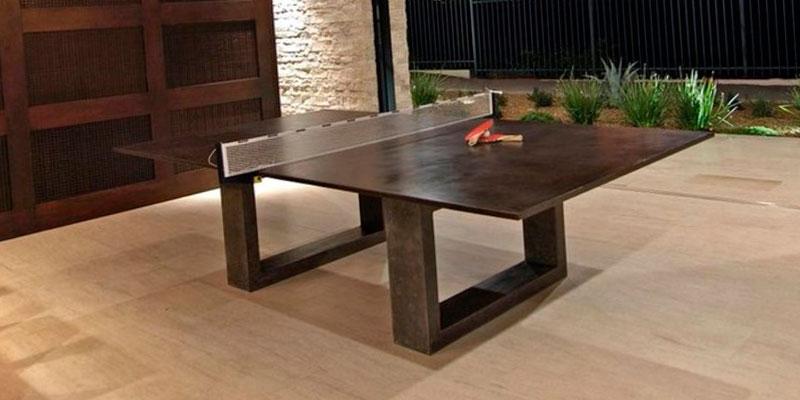 mesa de ping pong de hormigón para casa