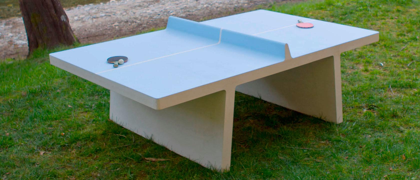 La mejor ubicaci n para una mesa de ping pong de hormig n for Dimensiones mesa ping pong