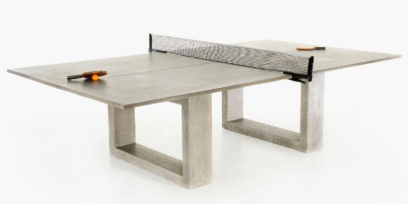 Mesas de ping pong de dise o hechas de hormig n mesas de ping pong de hormig n - Mesas de pinpon ...
